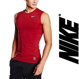Nike Pro Combat Dri-Fit Red Sleeveless Shirt M